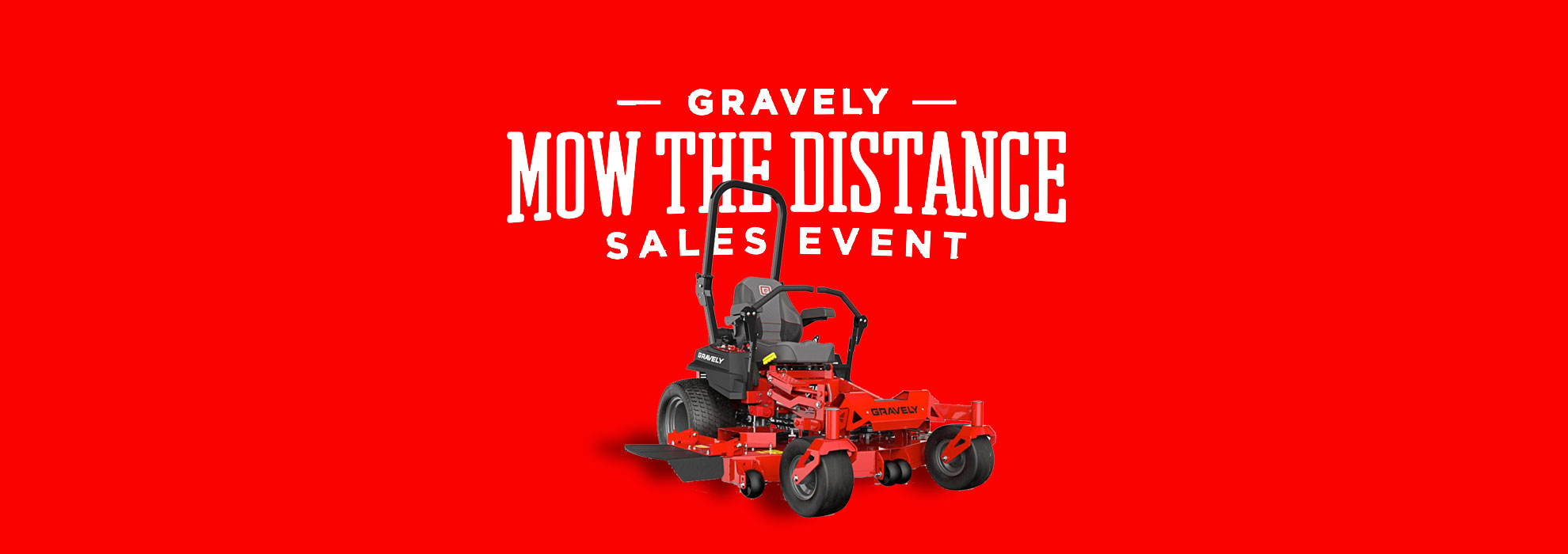 mow the distance gravely sale