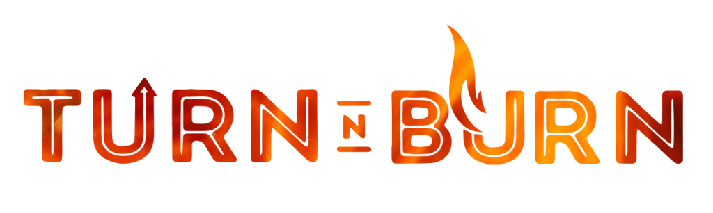 Turn N Burn flames logo