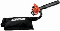 The ECHO ES-250 gas leaf blower offers 3 products in 1 tool: blower, shredder and vacuum. Make quick work of clearing leaves and other waste from your yard by using the versatile lawn blower. This tool includes a bag and a vacuum kit, which is easily converted from a yard blower to a vacuum/shredder.